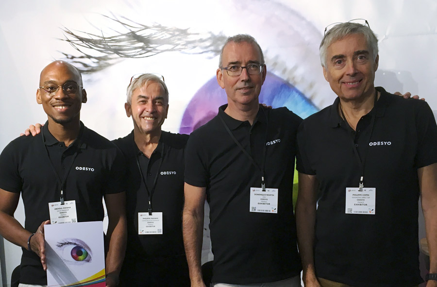 Odesyo Team at LabelExpo 2019 exhibit in Brussels