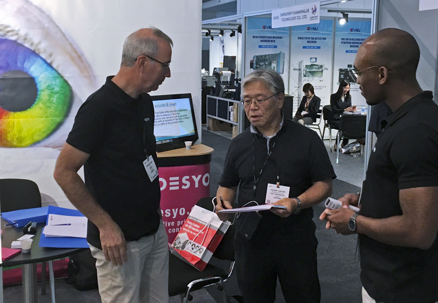 Visitors from many countries came visiting Odesyo booth.