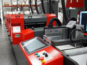 Machine showing our color management solution in print & packaging